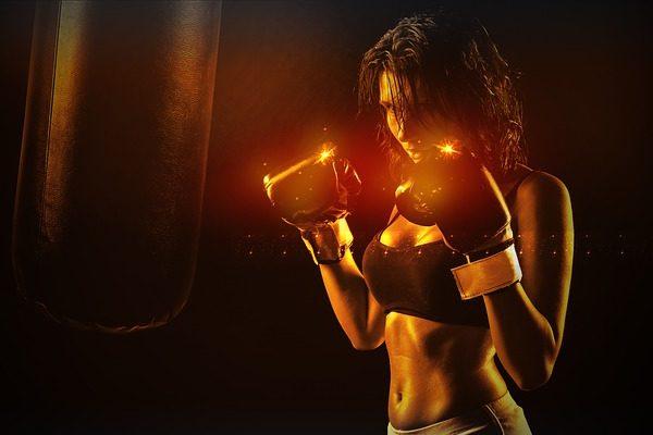 強い女性ボクサー
